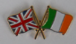 Great Britain and Ireland Friendship Flag Pin Badge